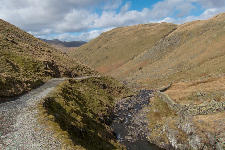 On the track by Hayeswater Gill back down to Hartsop