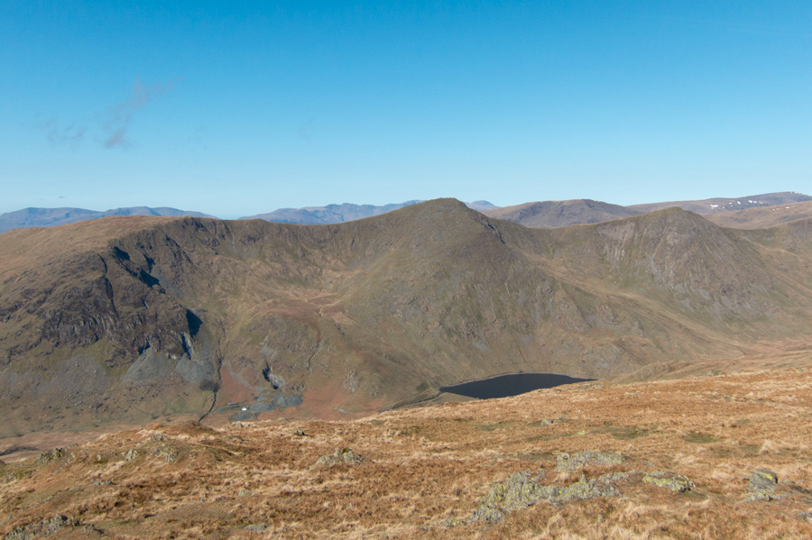 Looking across to the Ill Bell ridge