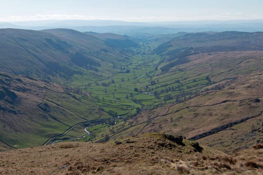 ...and looking down Longsledale from Goat Scar