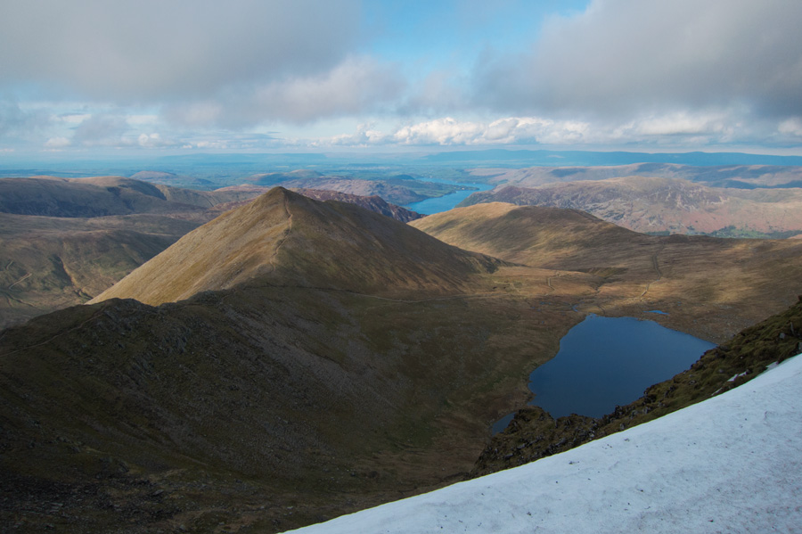 Catstyam and Red Tarn from Helvellyn's summit