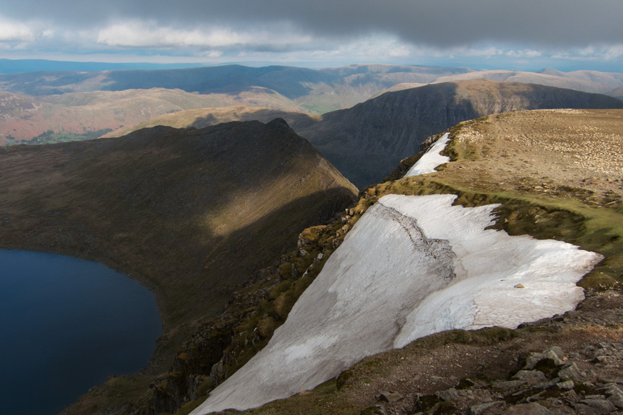 Red Tarn and Striding Edge from the summit