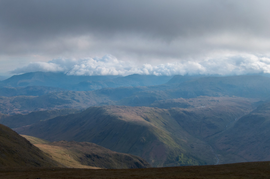 Cloud covers the Coniston fells