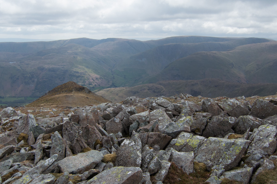 Gavel Pike and the far eastern fells beyond