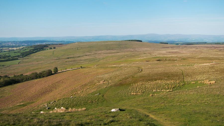Looking back north towards Heughscar Hill