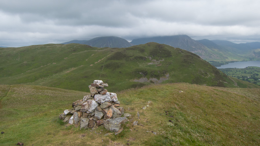 Low Fell (main top left, southern, lower, Wainwright top right) from Darling Fell