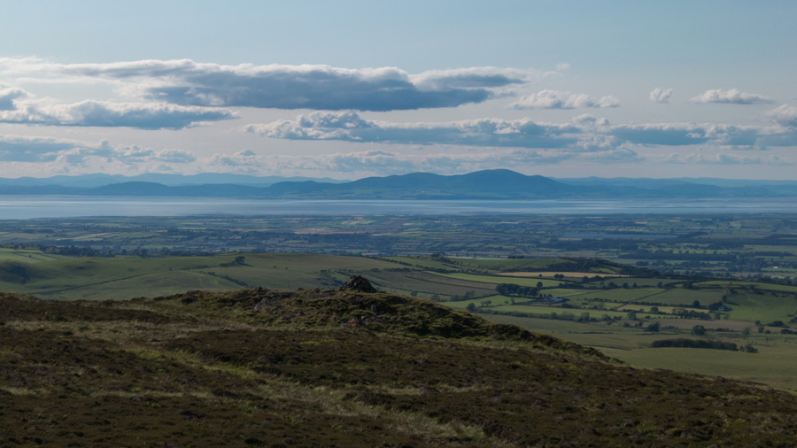 Criffel on the other side of the Solway Firth, 24 miles to the north west