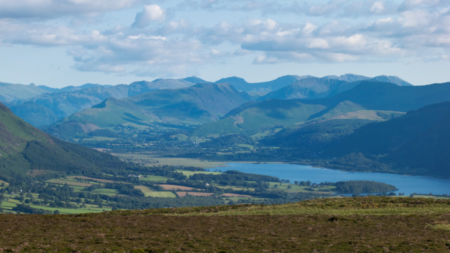 The high Lakeland fells to the south, how many can you name?
