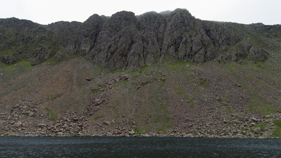 Looking across Goat's Water to Dow Crag