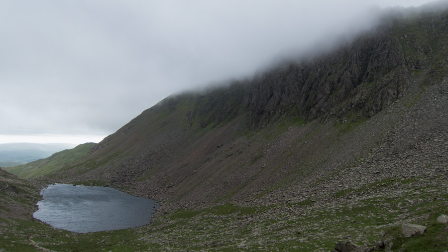 Goat's Water and Dow Crag as I head for Goat's Hawse