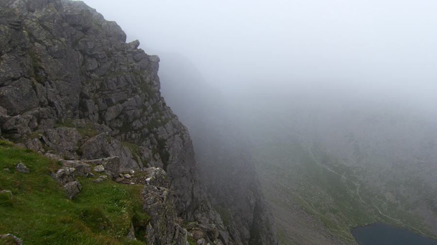 Dow Crag with Goat's Water far below