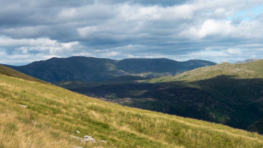 Looking across to the Helvellyn ridge