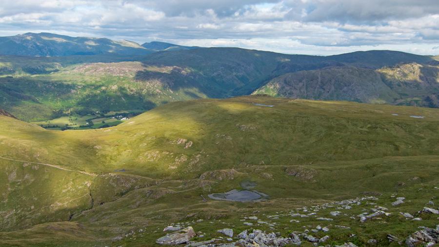 Dalehead Tarn, now far below