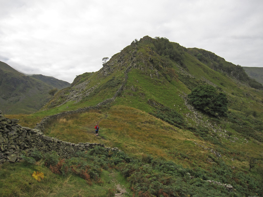 Starting our ascent of Rough Crag