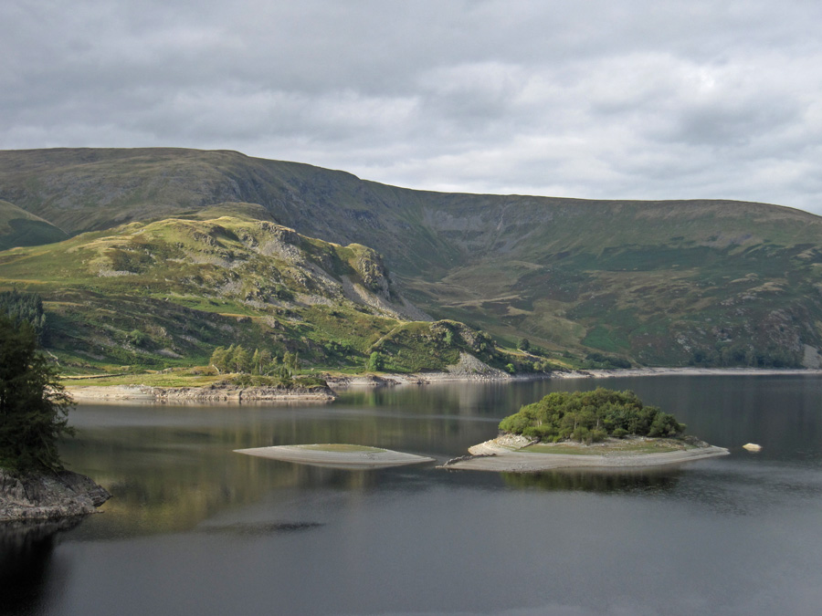 Castle Crag in the sun on the far side of Haweswater, taken on the drive home