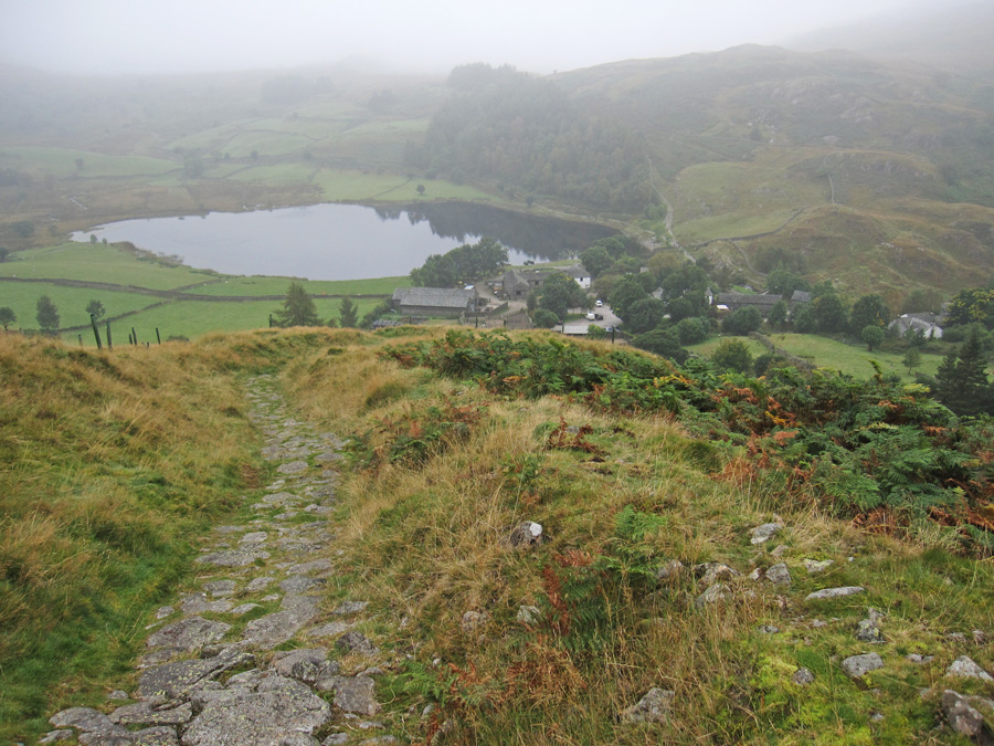 Descending to Watendlath