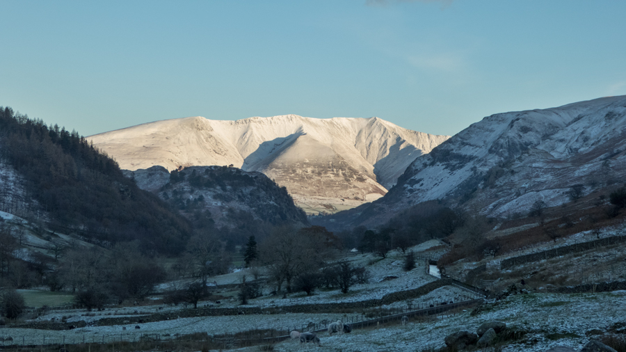 Looking through St John's in the Vale to Blencathra