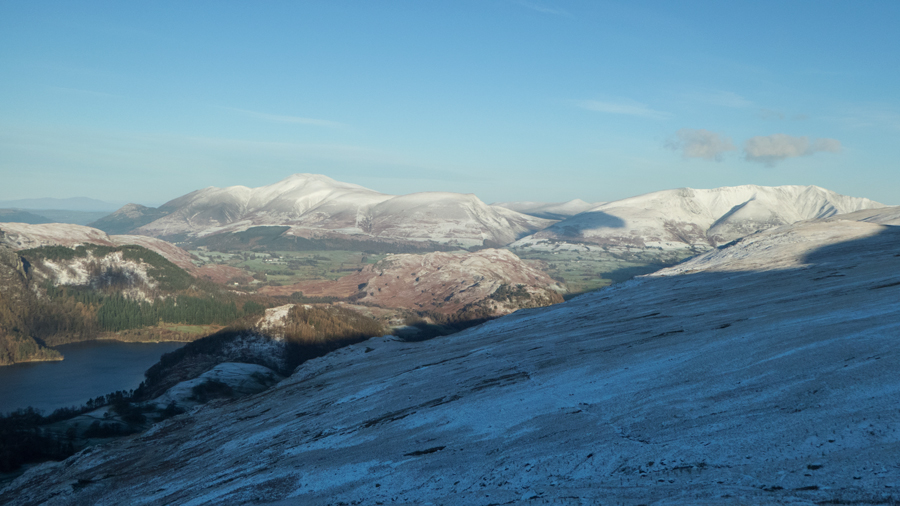 The Skiddaw fells with Blencathra on the right