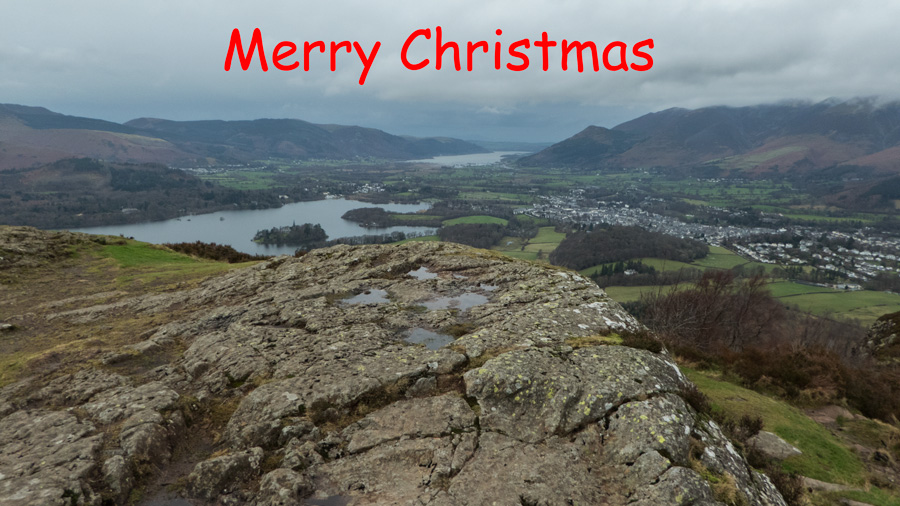 Merry Christmas from Walla Crag summit