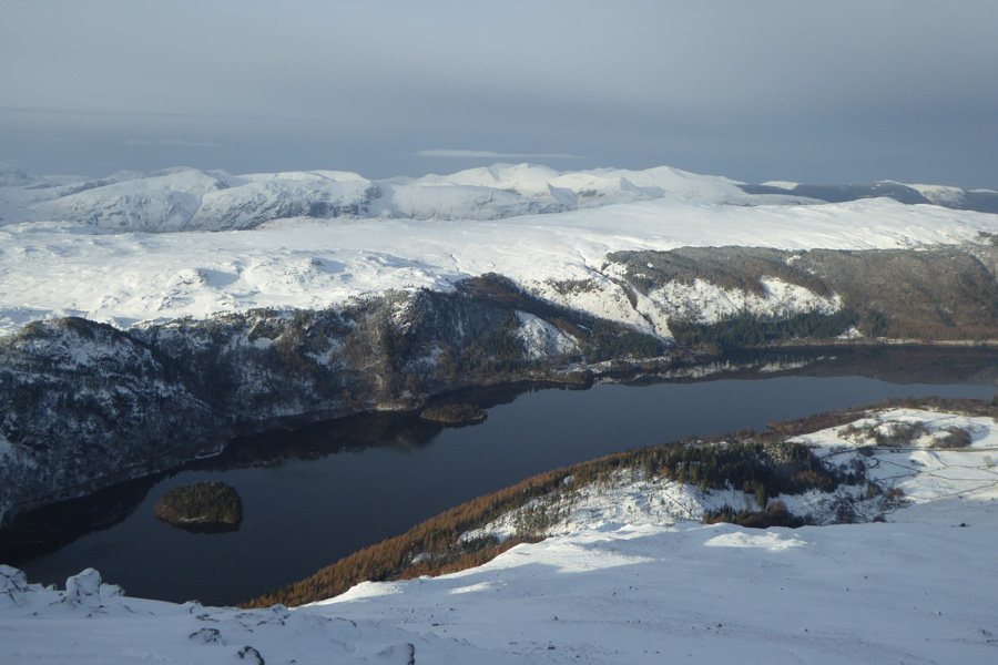 Looking over Thirlmere to the north western fells