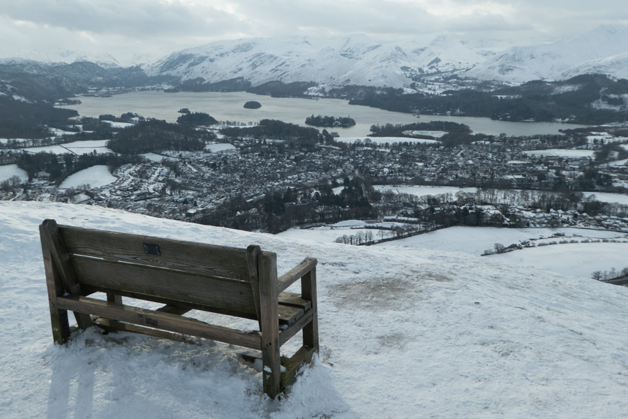 A bench with a view, Keswick and Derwent Water