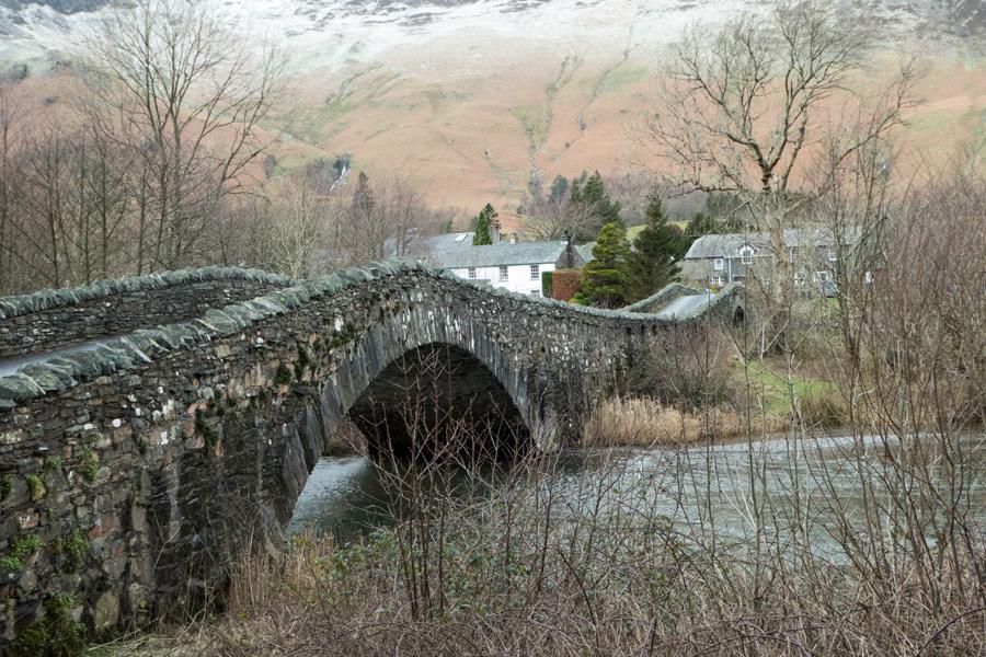 The double bridge over the River Derwent to Grange
