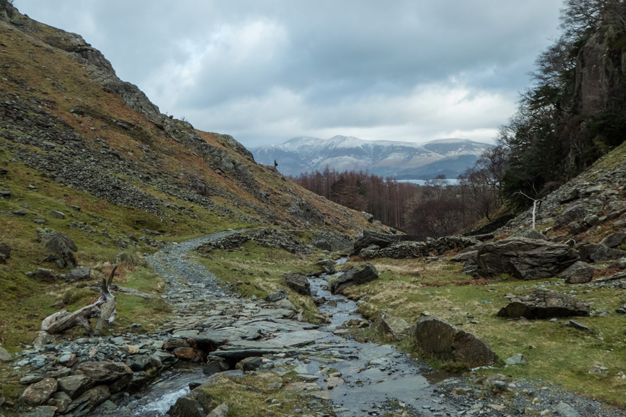 Broadslack Gill, that's Skiddaw in the distance