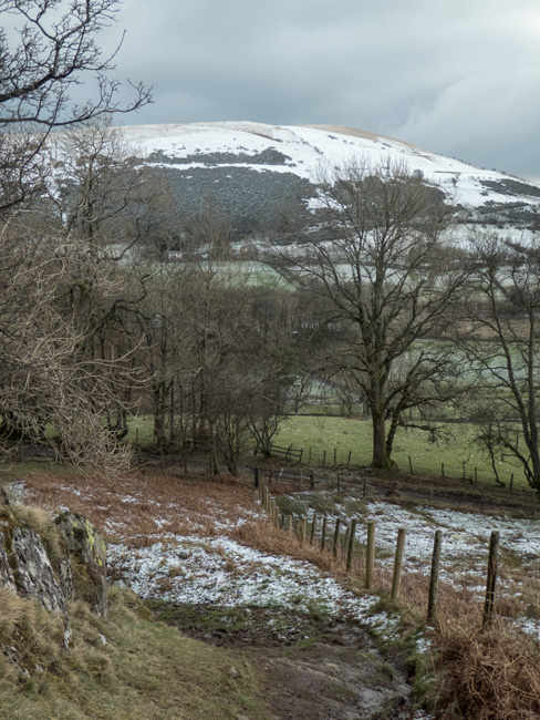 Little Mell Fell from just after I left the track to take the path up the fell