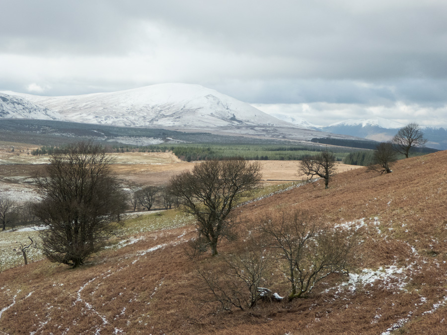 Looking over to Clough Head