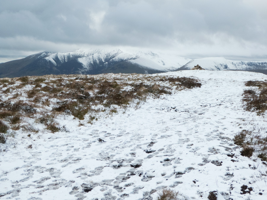 Approaching the summit cairn