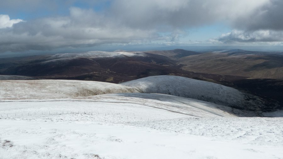 A snow free Carrock Fell in the distance