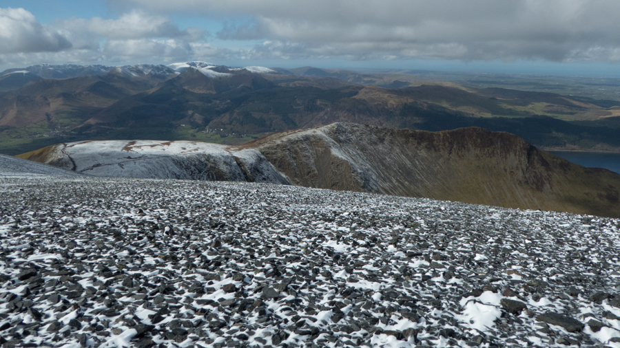 Carl Side, Long Side and Ullock Pike with the north western fells beyond