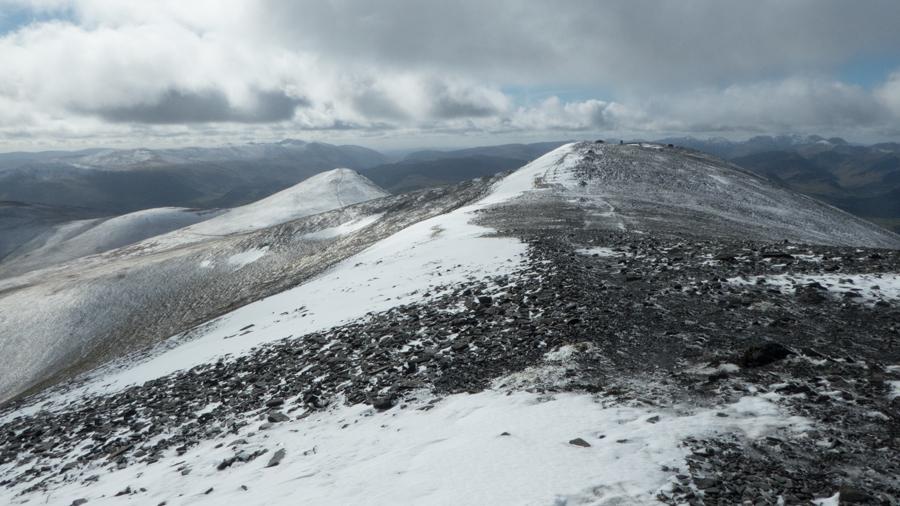 Skiddaw's summit ridge looking back south