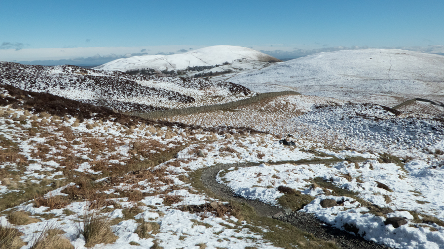 Carrying on, Little Mell Fell ahead but I'm heading right