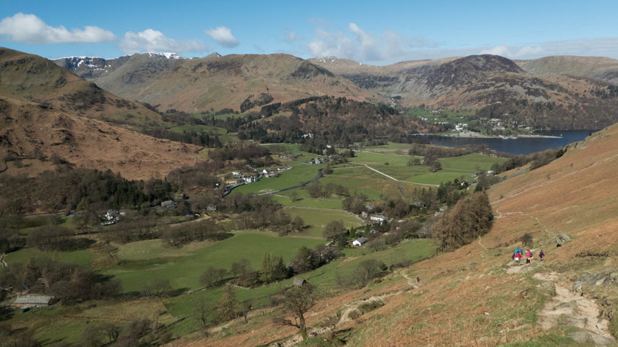 Looking back down on Patterdale