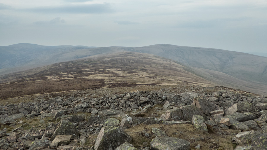 Looking back along the ridge from Carrock Fell with High Pike on the right