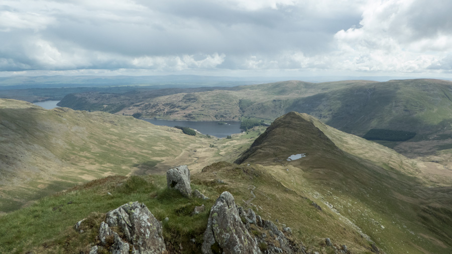 Looking back down on Rough Crag