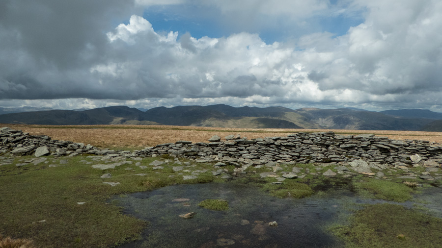 The Helvellyn ridge to the west