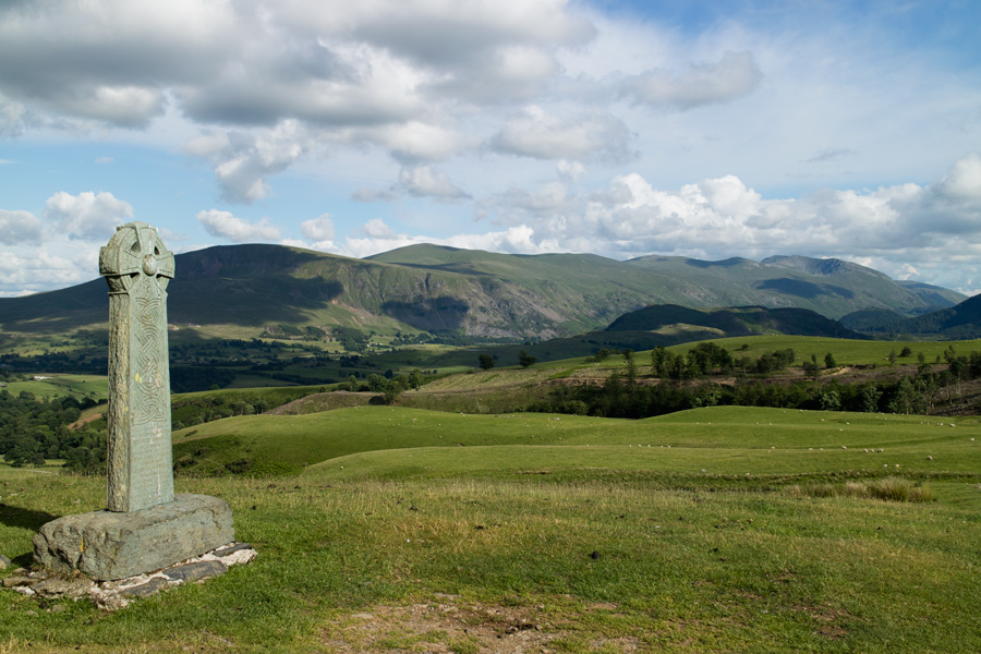 The Helvellyn ridge  from the Hawell Monument
