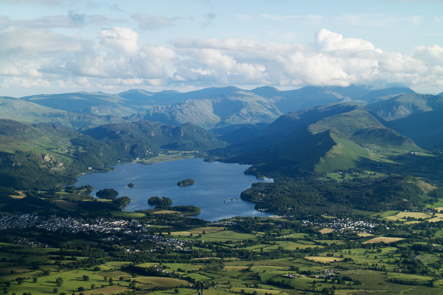 ...and zooming in on Derwent Water