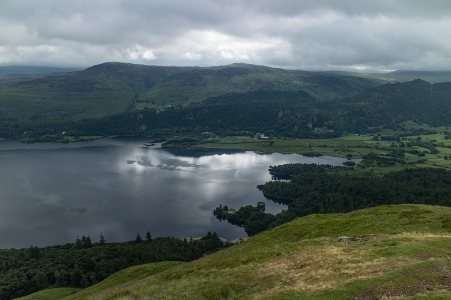 Looking over Derwent Water to Bleaberry Fell and High Seat