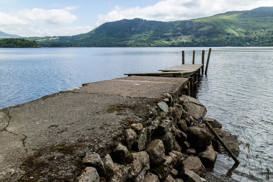Low Brandelhow jetty, looking a bit sad