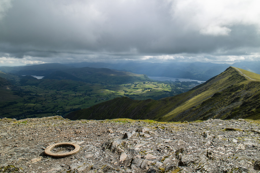The OS trig at Blencathra's summit
