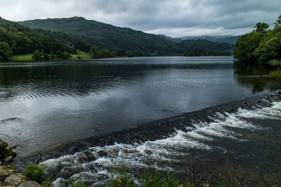 Silver How from Grasmere's weir