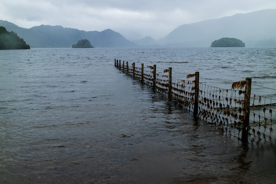 Looking south up Derwent Water from below Friar's Crag