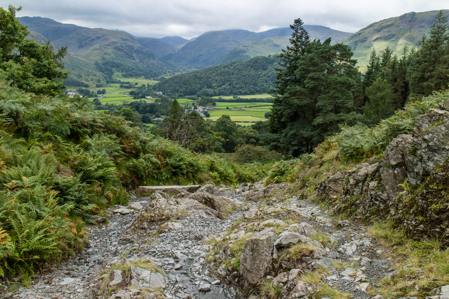 Heading back down into Borrowdale