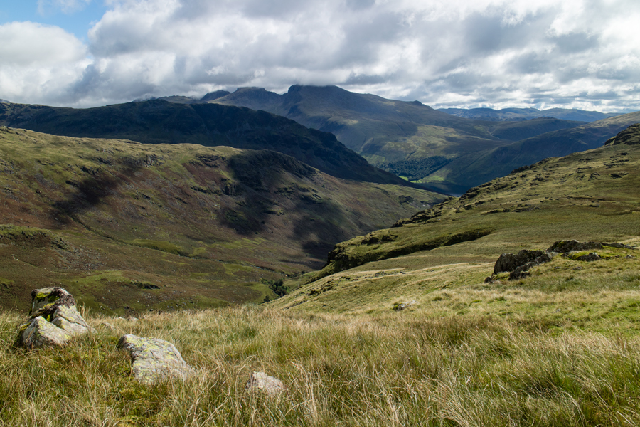 Looking across to the Scafells