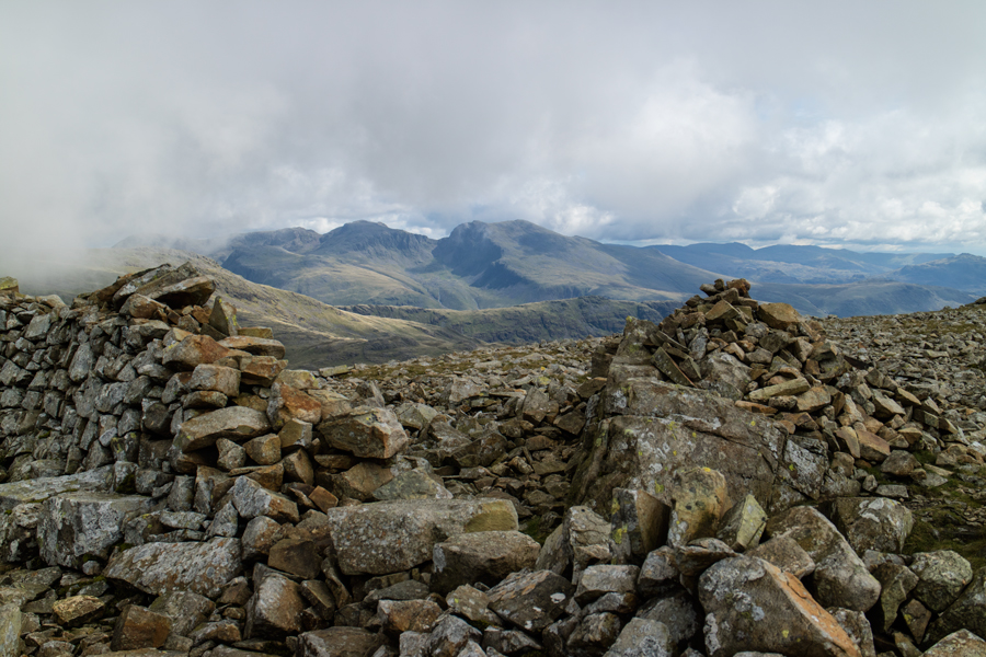 The Scafells from Haycock's summit