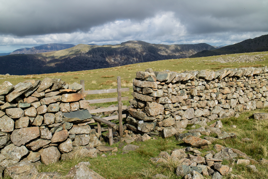 Looking across to the High Stile ridge