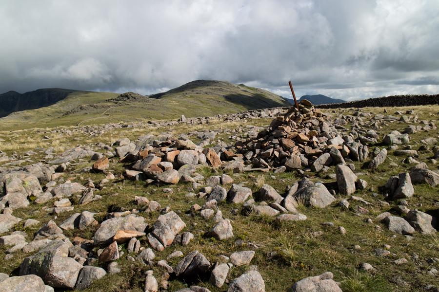 Caw Fell summit, 213 for Jill and Nigel