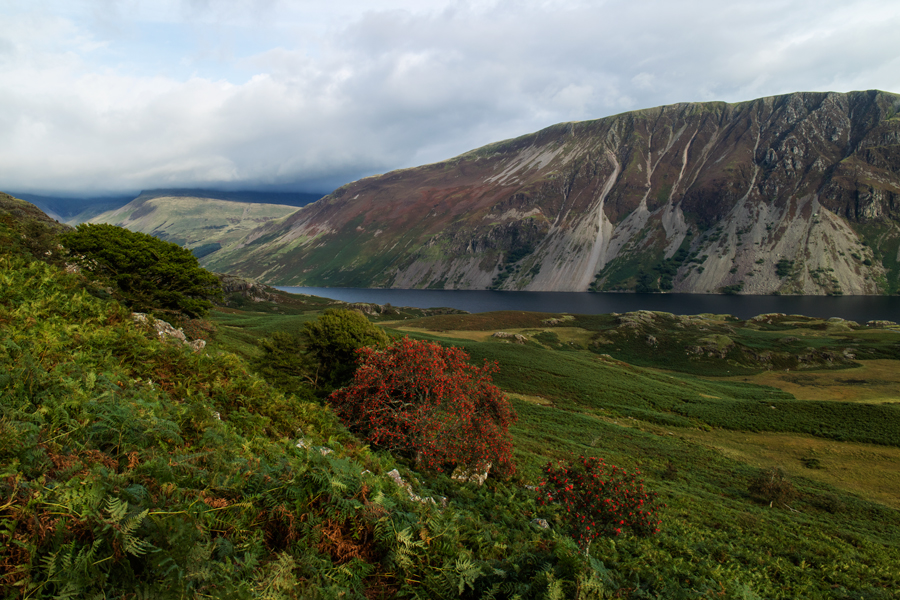 The Screes and Wast Water as we return to Greendale